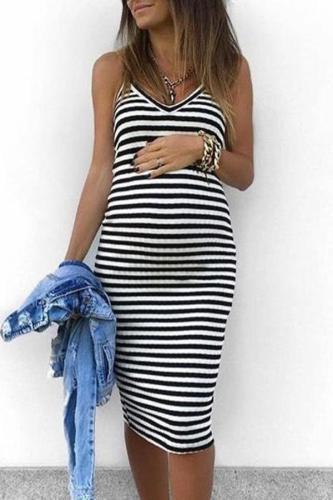 Maternity Stripes Cami Dress