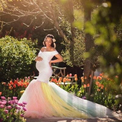 Maternity Lace Maxi Dress for Photo Shoot