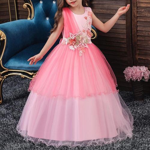 Mesh Sleeveless Long Princess Dress