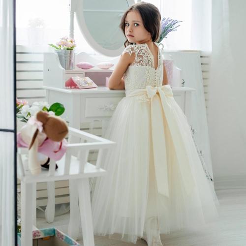 2020 Children's dress piano host children's dress gauze lace girl princess dress