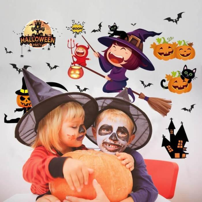 Halloween Pumpkin Wall Stickers