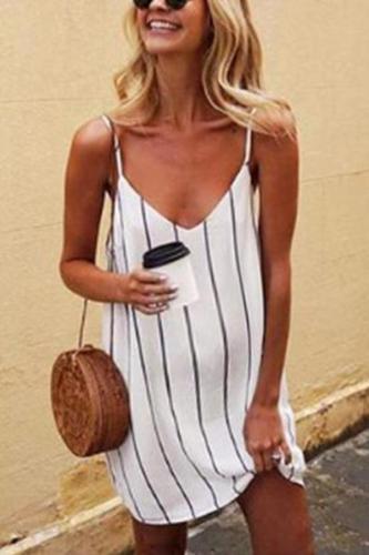 Maternity Sexy Striped Halter Top Dress