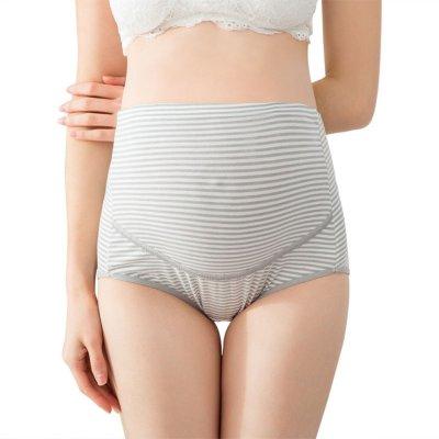 Women 's High-waist Panties Stripe Soft Care Abdomen Underwear