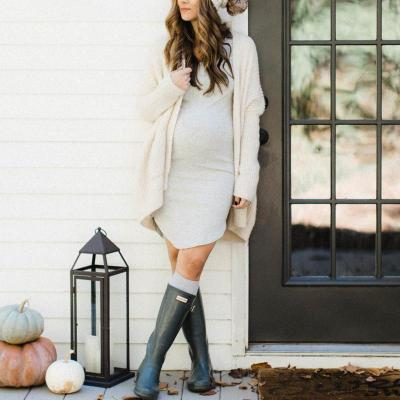 Maternity Big Pocket Cardigan Sweater