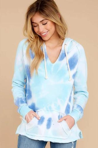 Autumn and Winter Women's Tie-dyed Pullover Hoodie