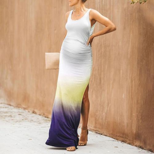 Maternity Casual Sling Gradual Change Dress