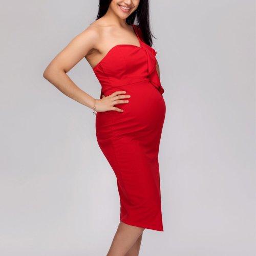 Maternity Plain Sleeveless Bodycon Dress