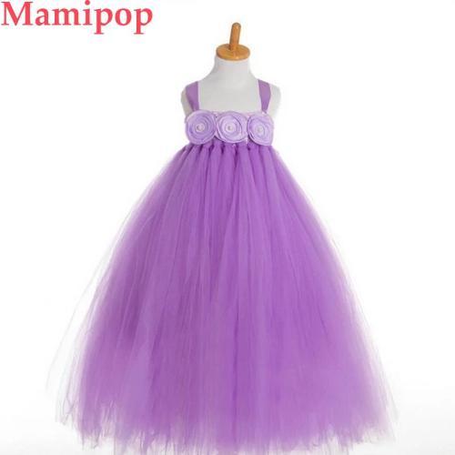 Princess Girl Party Dress Flower Girl Bridesmaid Wedding Birthday Costume