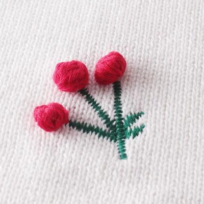 New Baby  Cherry Long Sleeve Knitting Wool Bodysuit