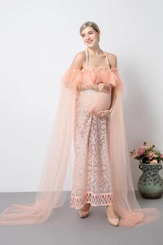 Pregnancy Romantic Fairy Voile Maxi Dresses