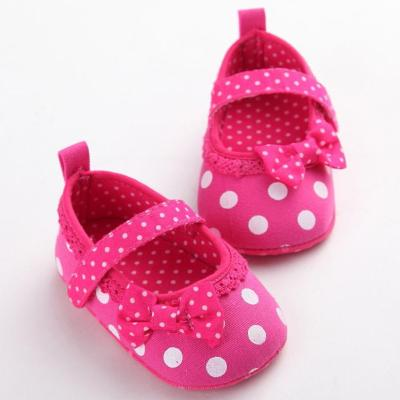 Baby Toddler Shoes Infant Princess Bowknot Dot Soft Sole Kid Girls Baby Band Crib Shoes