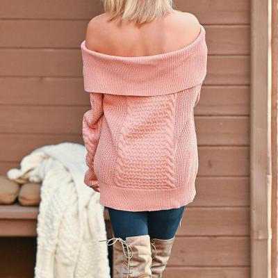 Maternity Off Shoulder Long Sleeve Pure Color Sweater