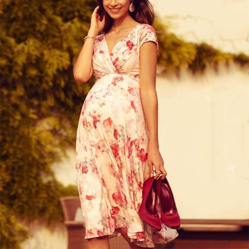 Maternity Casual Floral Print Dress