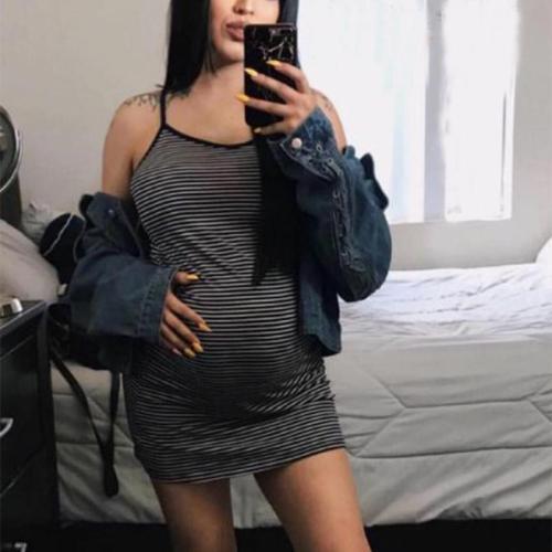 Maternity Condole Belt Casual Dress