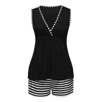Women Maternity Pajamas Set Sleep Suit  Vest Tops+Stripe Shorts Sets