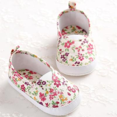 Baby Boy Girl   Toddlers Newborn Baby Girl Floral Printed Soft Sole Prewalker Shoes