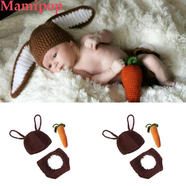 Crochet Newborn Baby Photography Props Costume