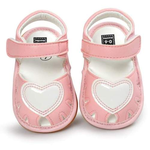Summer Baby Girl Shoes Pink Heart Sandals