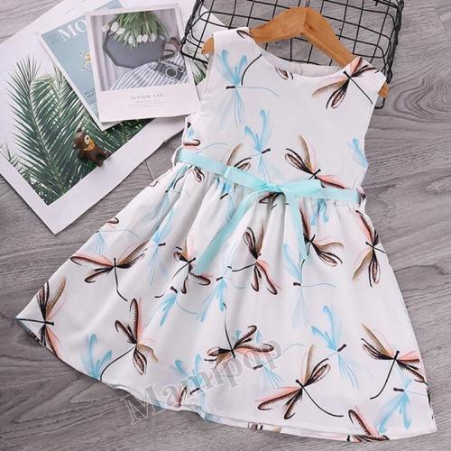 Dress Summer Dress Sleeveless Butterfly Princess