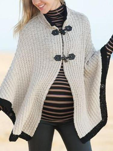 Maternity Modern Buckle collar Pure Color Sweater