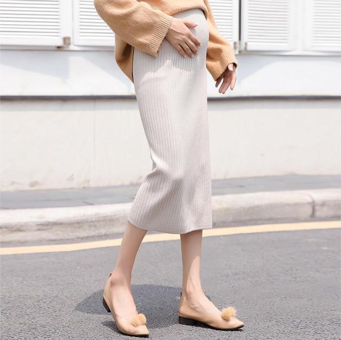 Maternity Long Wool Skirt
