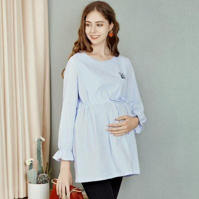 Pregnant Women's Shirt Large Size Breastfeeding Maternity Shirt
