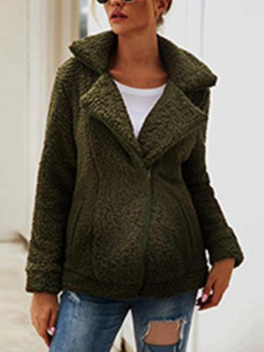 Maternity Casual Solid Color Long Sleeve Jacket