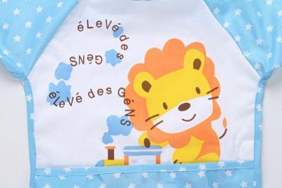Baby Bib Toddler Boy Girl Long Sleeve Letter Waterproof Feeding Art Apron Bib Smock