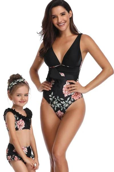 2020 New Parent-Child One-piece Swimsuit Mother-Daughter Swimsuit
