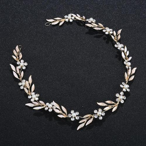 Fashion Gold Color Alloy Leaf Headbands Wedding Photography Hair Accessories