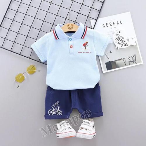 2020 Korean version of summer new small and medium-sized children's cotton short sleeve T-shirt set