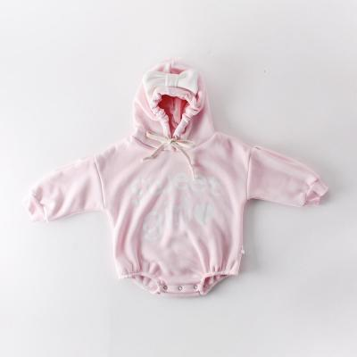 Winter Baby Butterfly Love Newborn Clothes Hooded Romper