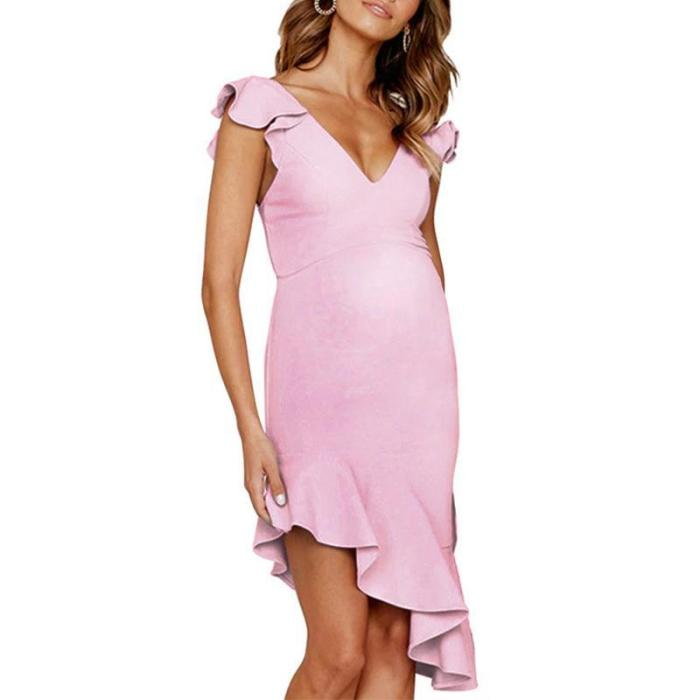 Maternity Five Colors Sleeveless Slim Dress