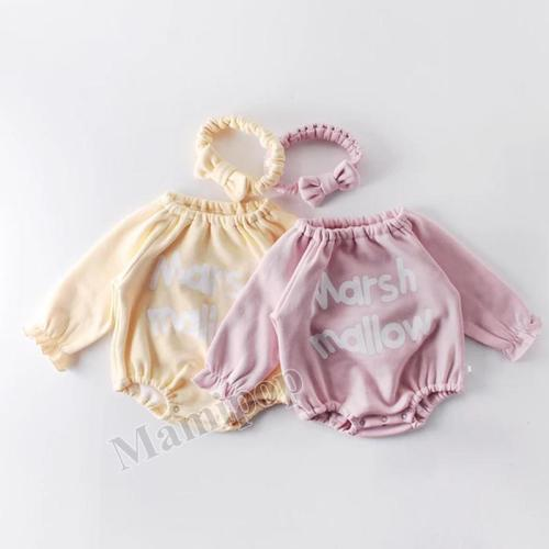Winter Baby's Round Neck baby's Clothes Bow Tie One-piece Romper