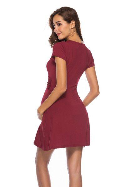 Wrap with Waist Belt Maternity Dress