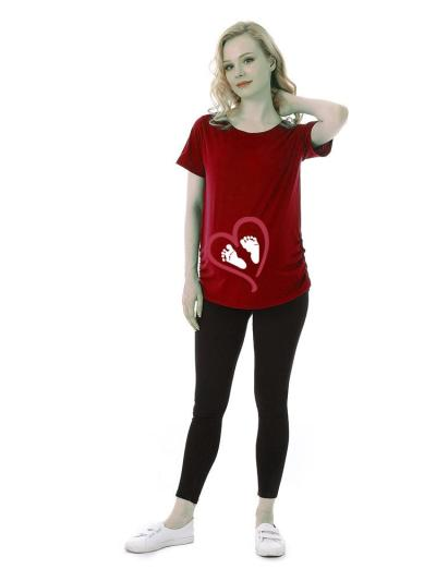 Large Size Digital Printing Love Offset Medium and Long T-shirt