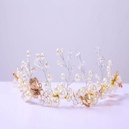 Bride ornaments handmade beaded cuba rock gold leaf wedding accessories
