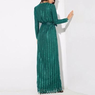 Maternity Sexy V-neck solid color long sleeve split dress