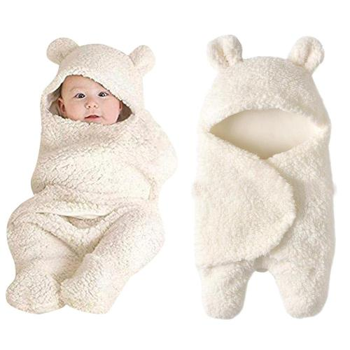 Fashion Baby blankets newborn Cute Cotton Receiving White Sleeping Blanket Boy Girl Wrap