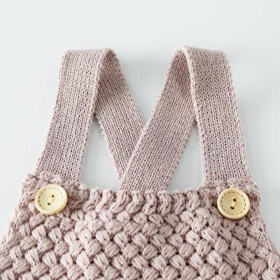 Baby's Lace up Back knitting Wool bodysuit