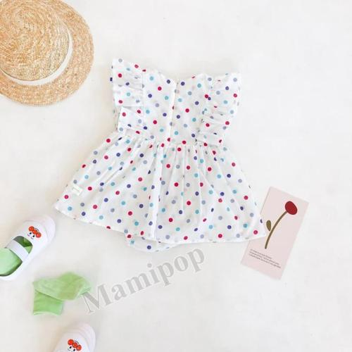 2020 Summer Girl baby Dot ha-shirt Baby Cotton  Skirt Jumpsuit
