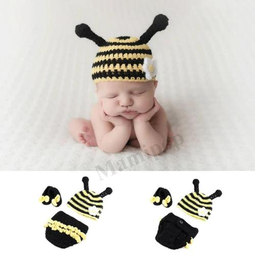 Newborn Baby Crochet Knit Costume Prop Outfits Photo Photography