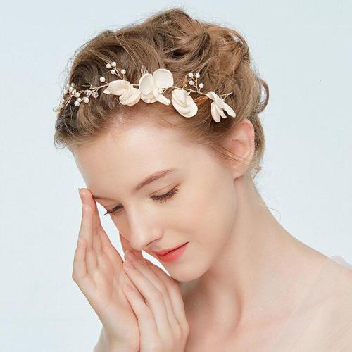 Pink Flower Tiara Wedding and Photography Hair Vine