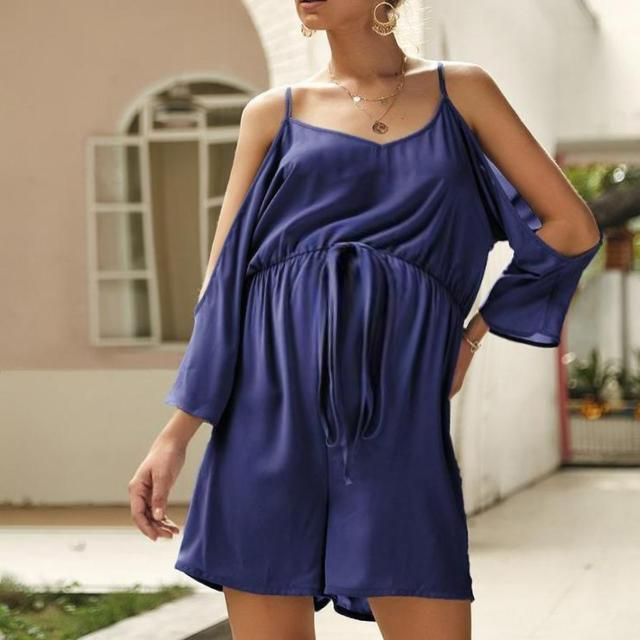 Maternity Sexy Sling Solid Color Jumpsuit
