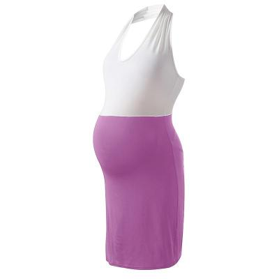 Maternity Patchwork Hip Slim Maternity Dress