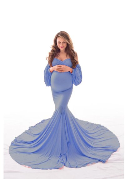 Women's Summer One Line Collar Short Sleeve Photography Pregnant Women's Casual Sexy Evening Dress