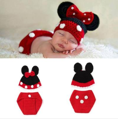 1 set Newborn Baby Crochet Knit Costume Photography Photo Prop