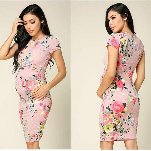New Sexy Print Pencil Skirt for Pregnant Women