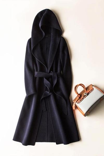 Cashmere Women long coat long sleeve wool loose coat
