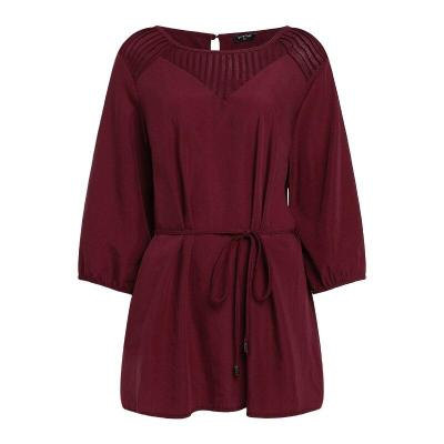 Maternity Blouses Casual Loose Elegant O Neck Three Quarter Solid Shirts